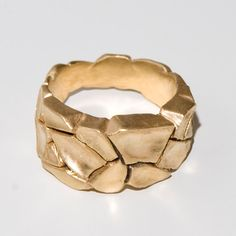 Parched earth no.4, gold filled ring / D.M. Designs