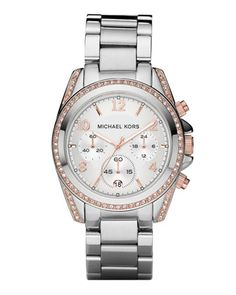 Silver with rose gold accents... Michael Kors is a man after my own heart
