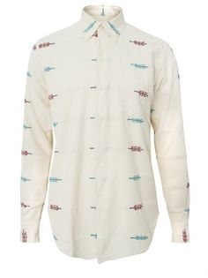 """""""Our Legacy 1950s Ethnic Arrow"""" shirt at Tres Bien"""