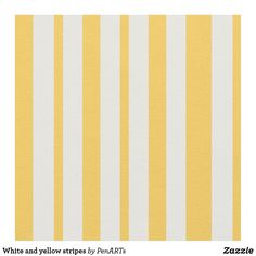 White and yellow stripes fabric