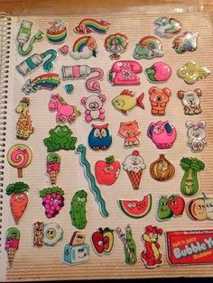 Loved these, the scratch & sniff kind and rubber stamps