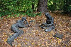 "J. Seward Johnson's sculpture ""Spring"" in the Crim Dell woods"