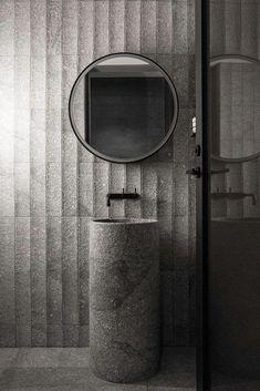 luxury bathroom B.E develops custom mirror with integrated light and storage - B. Modern Bathroom, Small Bathroom, Beautiful Bathrooms, Bathroom Ideas, Moraira, Gold Furniture, Custom Mirrors, Tadelakt, Bathroom Toilets
