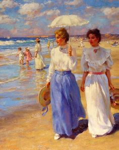 As Cores Da Arte: Gregory Frank Harris Old Paintings, Paintings I Love, Beautiful Paintings, Mary Cassatt, Art And Illustration, Illustrations, Art Plage, Art Gallery, Fine Art