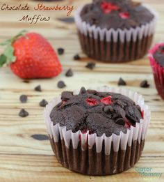 Chocolate Strawberry Muffins - Gator Mommy Reviews