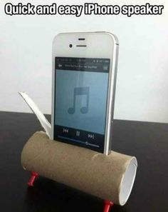 iPhone Speaker Edited | Don't Throw Out Those Paper Towel and Toilet Paper Rolls! Here Are 17 Brilliant Ways to Reuse Them!