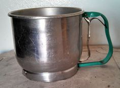 vintage foley 5 cup sifter with green handle by EllaBella07, $15.00