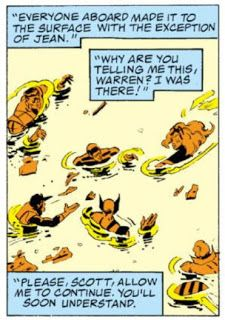 X-Factor #1 - Classic exposition dialogue at its...worst? Finest?
