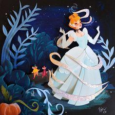 Ryan W Riller Disney Cinderella Deco Disney, Disney Fan Art, Disney And Dreamworks, Disney Pixar, Cinderella Disney, Disney Princesses, Cut Out Art, Origami, Briar Rose