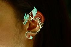 Ear cuff DRAGON GLOW in the DARK by Papillon9 on Etsy, $24.95