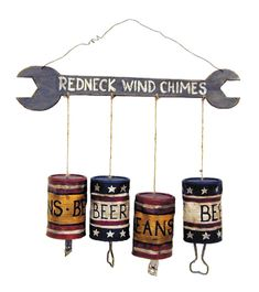 Ohio Wholesale Small Redneck Wind Chimes, from our Humor Collection From our humor collection Screen printed wood Constructed for endurance and the utmost quality Hangs via wire hanger Class it up with these hilarious wind chimes Country Wall Decor, Home Wall Decor, Wall Art Designs, Wall Design, Trailer Trash Party, Redneck Party, Hillbilly Party, Redneck Crafts, Funny Redneck