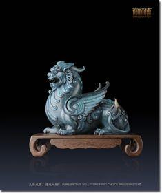 铜师傅开运貔貅全铜摆件 家居工艺品装饰品饰品客厅摆件纳财 Dragon Horse, Dragon Art, Art Sculpture, Animal Sculptures, Art Jouet, China Architecture, Art Chinois, Art Asiatique, Silhouette Clip Art