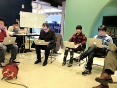 TK, Fred and others grooving at Startup Labs Taiwan.