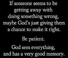 He keeps giving them chances but they are not making it right.  Remb....God sees everything and has a VERY good memory.