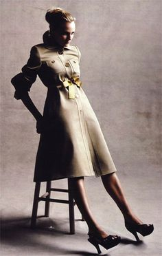 Add a SATIN RIBBON BELT to your trench for a touch of glamour..from This is Glamorous