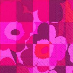 【楽天市場】マリメッコ 可愛い 4つ折りペーパーナプキン☆MINI RUUTU UNIKKO red☆(20枚入り):Pippy 楽天市場店
