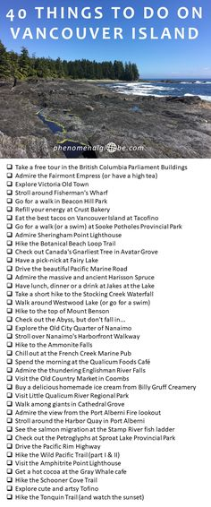 40 Best Things To See And Do On Vancouver Island Check out these 40 amazing things to do on Vancouver Island!Check out these 40 amazing things to do on Vancouver Island! Banff, British Columbia, Quebec, Places To Travel, Places To See, Toronto, Canada Destinations, Visit Victoria, Canadian Travel