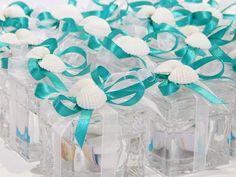 Bomboniere scatoline in cristallo multiuso confezionate in stile tema mare per ricordare il vostro giorno piu' importante... confezionate con amore da Tiffany Store Lab...
