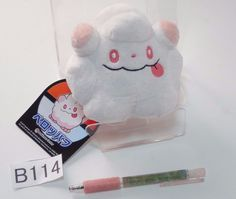 Swirlix Flauschling Sucroquin Pokemon Center Plush Doll.with the bonus item #PokemonCenter