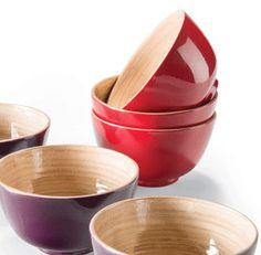 Our lovely eco-friendly bamboo lacquerware small bowls - now with 50% off!  See our website