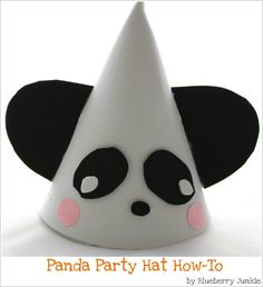how to make a panda party hat for your child's panda-themed party