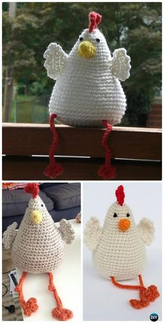 Turn into or add a basket Crochet Amigurumi Hen Softie Toy Free Pattern - #Crochet; Chicken Free Patterns