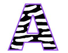 PURPLE ZEBRA ALPHABET Letters Clip Art - Digital Scrapbook Embellishments - Digital Graphics - Instant Download #decampstudios