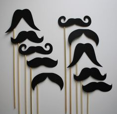 I'm obsessed with mustaches. So what's the best cure for an obsession? Look up crafts you can do! Get some paper straws and glue paper mustaches! Makes a cute centerpieces and fun drink…