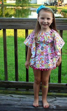 Cute & Quick little 'butterfly' bathing suit cover up!! DIY with step by step picture tutorial