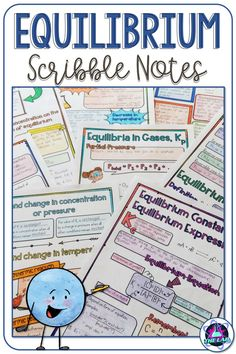 Scribble notes are a great way to engage your students. these notes on chemical equilibrium is perfect for high school chemistry and provides an alternative High School Chemistry, Chemistry Notes, Middle School Science, Teaching Chemistry, Teaching Resources, Teaching Ideas, Teaching Tools, Quotes For Students, Science Classroom