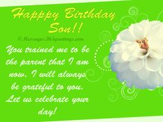 Here's our collection of birthday wishes for son for those who are looking for the best birthday messages to write in a birthday card. Choose from our son. Nice Birthday Messages, Birthday Wishes For Son, Birthday Wishes Greetings, Birthday Cards, Happpy Birthday, Always Be Grateful, Sons, Writing, Gifts