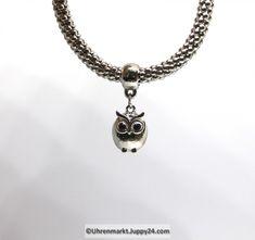 Modearmband mit Eulenanhänger in Modeschmuck auf Uhrenmarkt Juppy24 Pendant Necklace, Silver, Jewelry, Fashion, Owl Pendant, Fashion Jewelry, Clock, Armband, Jewlery