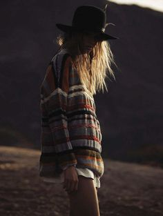 Put a hat on it. Bohemian fashion and style.