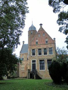 De Martenastins, Franekers stadskasteel en -museum, achterzijde. Friesland / Frisia, Netherlands
