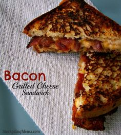 Bacon Grilled Cheese Sandwich http://www.stockpilingmoms.com/2013/04/bacon-grilled-cheese-sandwich/