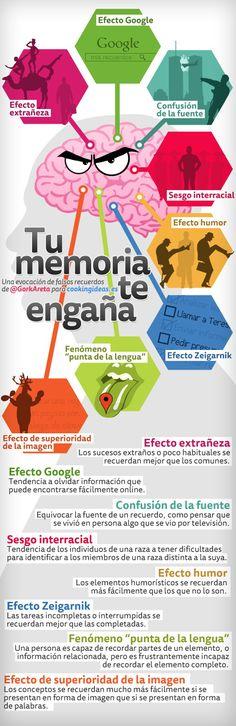 Tu memoria te engaña #infografia #infographic #psychology
