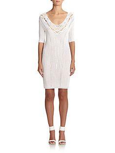 Ralph Lauren Black Label Crochet Sheath Dress