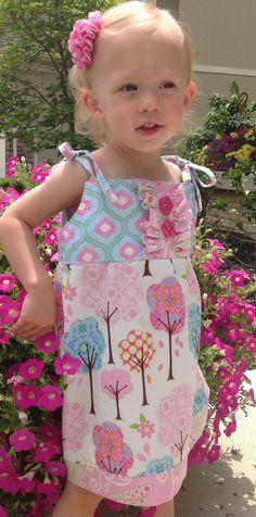 Girls Dress Baby Dress Toddler Dress Summer Dress  by LuckyLizzys, $39.00