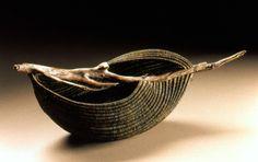 sculptural basket 'Flow' by Deborah Smith