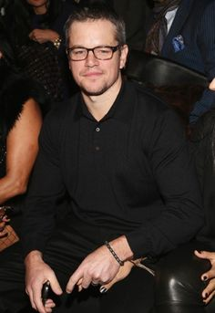 1859121c186e  Born  actor  Matt  Damon looked studious in spectacles at the Naeem Khan