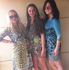 three beautiful girls, wearing three beautiful dresses! Robin - Marie Therese - Maayke www.tessakoops.com