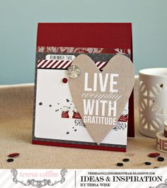 """Teresa Collins Designs - Hello My Name is """"Live With Gratitude Card"""" by @Tessa McDaniel Wise"""