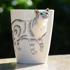 Hand Painted 3D Animal Mug