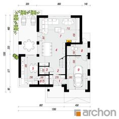 Dom w orszelinach House Plans, Floor Plans, Houses, House Design, How To Plan, Architecture, Two Story Houses, Furniture, Floor Layout