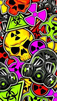 Sticker Bomb Wallpaper, Graffiti Wallpaper Iphone, Glitch Wallpaper, Deadpool Wallpaper, Pop Art Wallpaper, Hipster Wallpaper, Apple Wallpaper Iphone, Graphic Wallpaper, Marvel Wallpaper