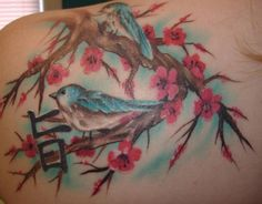 japanese cherry blossom tattoos | Leg Tattoos Japanese Cherry Blossom Tattoo