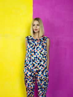Kasha top and Linie trousers / Marimekko S/S 14 Her Style, Cool Style, Marimekko Dress, Fashion Outfits, Womens Fashion, Kaftan, Spring Summer Fashion, Color Combinations, Casual
