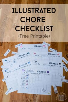Use this illustrated chore checklist to help kids grow habits of completing daily tasks. Can be used for pre-readers as well as older kids. Parenting Teenagers, Single Parenting, Parenting Quotes, Parenting Advice, Chore Checklist, Daily Checklist, New Parent Advice, Chores For Kids, Help Kids