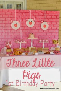 {My Parties} Avery's Three Little Pigs Party