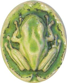 Pewabic Pottery, frog paperweight - I have one of these from Pewabic tucked in a garden